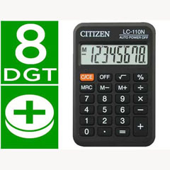 Material CALCULADORA CITIZEN BOLSILLO LC-110 8 DIGITOS NEGRA