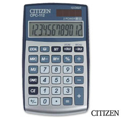 Material CALCULADORA CITIZEN CPC-112 BOLSILLO 12 DIGITOS GRIS (33082)